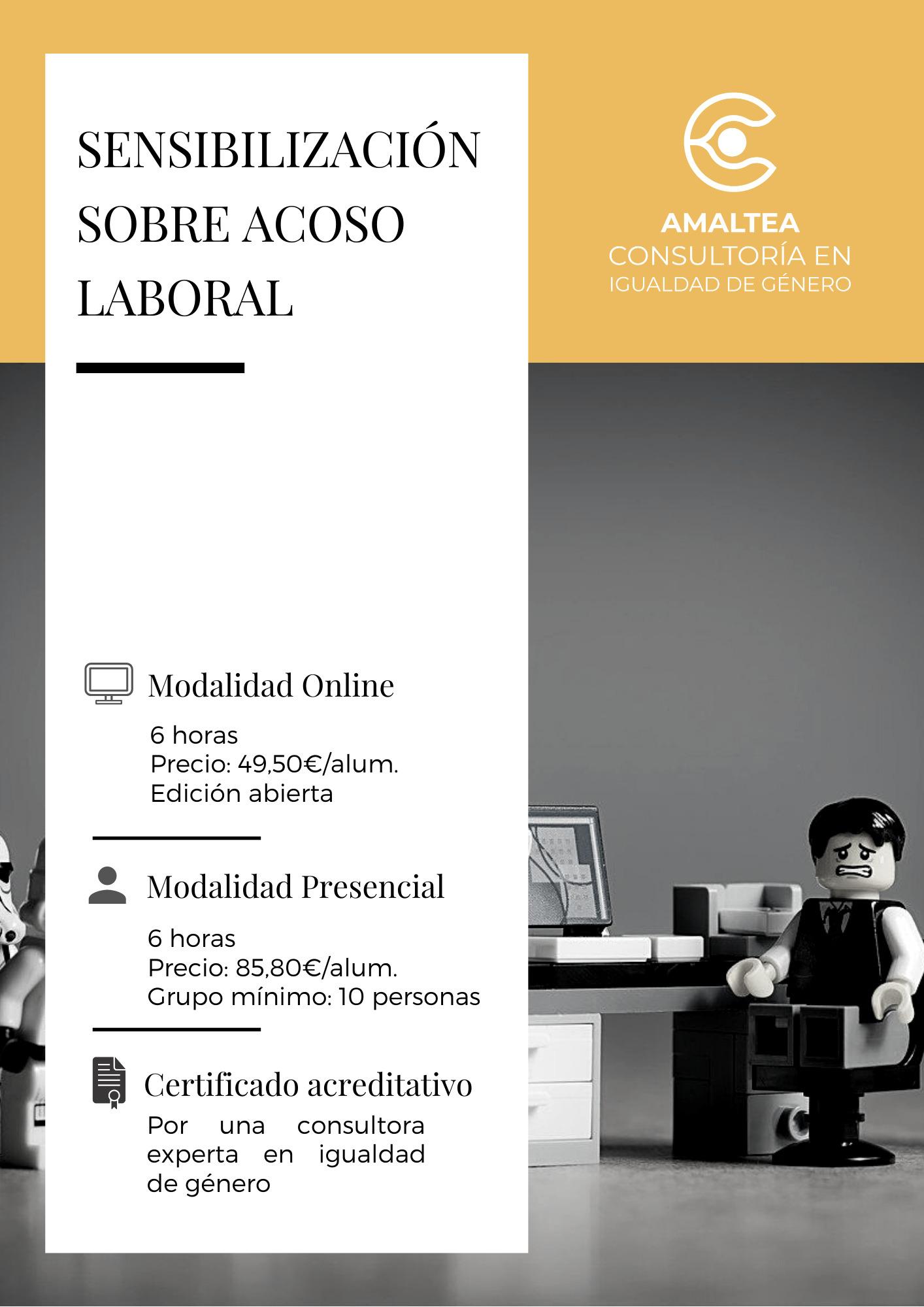 Portada de la Ficha del Curso de Sensibilización en Acoso Laboral